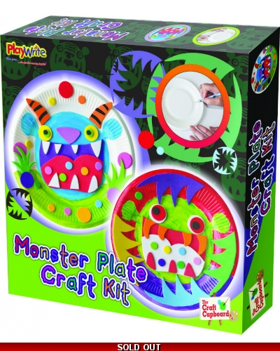 Wrapped Grotto Toys - Monster Plate Craft Set x 6